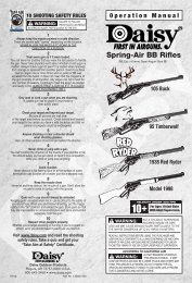 Spring-Air BB Rifles - Daisy Outdoor Products