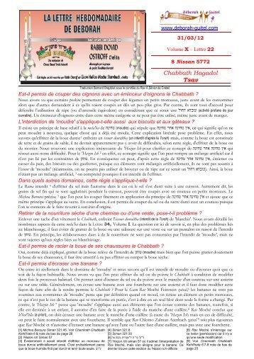 Volume X - lettre n°22 - Association Deborah Guitel