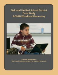 Oakland Unified School District Case Study