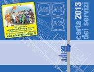 Carta dei servizi 2013 - SALT \ Società Autostrada Ligure Toscana