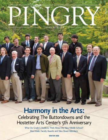 Harmony in the Arts: - Pingry School