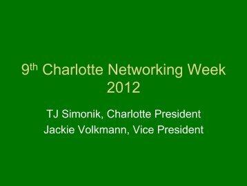 9th Charlotte Networking Week 2012 - Ohio University Alumni ...