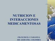 NUTRICION E INTERACCIONES MEDICAMENTOSAS