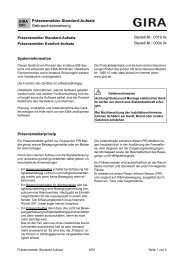 Präsenzmelder Standard-Aufsatz ... - Download - Gira