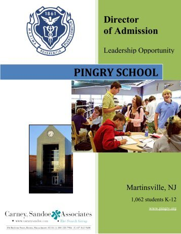 Director of Admission - Pingry School
