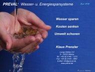 PREVAL® Wasser- u. Energiesparsysteme - Focus Passivhaus