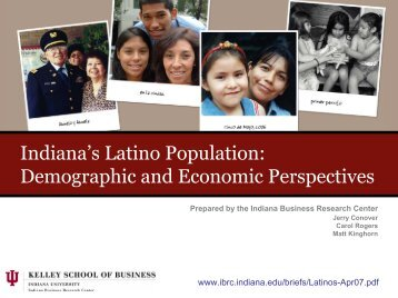Indiana's Latino Population: Demographic and Economic Perspectives
