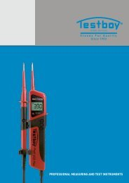 PROFESSIONAL MEASURING AND TEST INSTRUMENTS