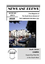 Autumn - South Devon CAMRA