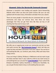 Housenet - Enjoy Our Service My Community Connect