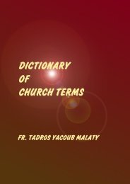 DICTIONARY OF CHURCH TERMS - Coptic Church Network