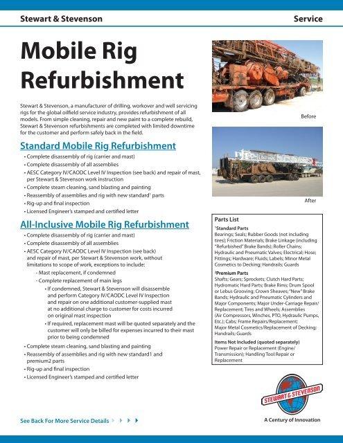 Rig Refurbishment pdf - Stewart & Stevenson