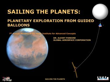 sailing the planets - NASA's Institute for Advanced Concepts