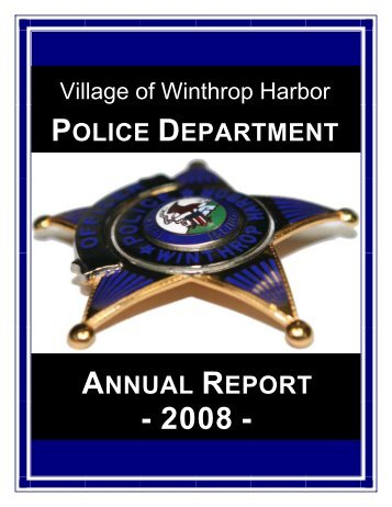 2008 WHPD Annual Report - Winthrop Harbor Police Department