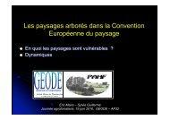 Les paysages arborés dans la Convention ... - Arbre & Paysage