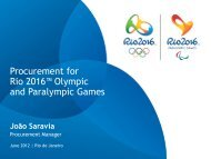 Procurement for Rio 2016™ Olympic and Paralympic Games