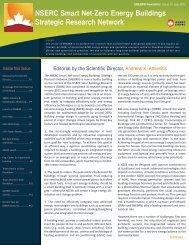 July 2012 - NSERC Smart Net-zero Energy Buildings strategic ...