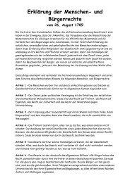 Erklärung der Menschen- und Bürgerrechte