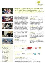 Schulfilmprogramm für Kinder und Jugendliche vom 14. bis 16. April ...