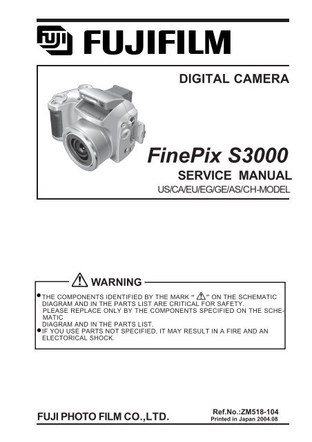 digital camera finepix s3000 service manual warning ...  yumpu