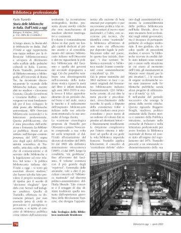 Biblioteca professionale - Biblioteche oggi