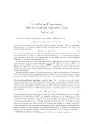 Mixed-Integer Programming: State-of-the-art and ... - LNMB