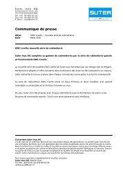 Communiqué de presse - Suter Inox AG