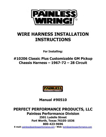 wire harness installation instructions painless wiring?quality=85 fitting instructions for nissan t31 x trail towbar wiring harness Wire Harness Assembly at mifinder.co