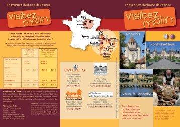 Découvrir l'offre Visitez malin ! 2013 (PDF - 1888 Ko) - Guédelon