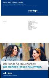 Der Fonds für Frauenarbeit - Schweizerischer Evangelischer ...