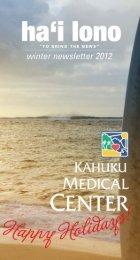 Winter newsletter 2012 - Kahuku Medical Center - Hawaii Health ...
