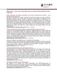 Tipps zum Thema Open Source und kostenlose Software ... - iMedia