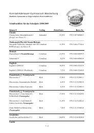 Klasse 9 - Konrad-Adenauer-Gymnasium