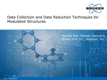 Data Collection and Data Reduction Techniques for ... - Bruker