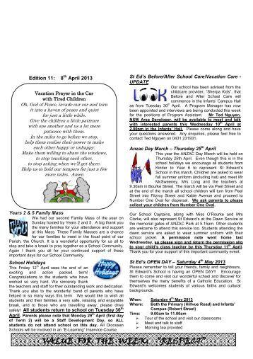 Newsletter Edition 11 2013 - St Edwards Primary School