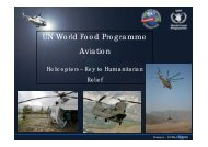 Helicopters, Key to Humanitarian Relief