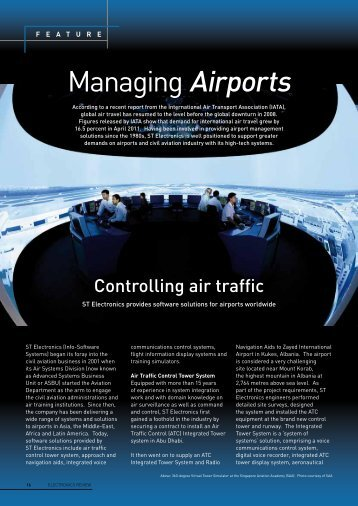 Managing Airports - ST Electronics