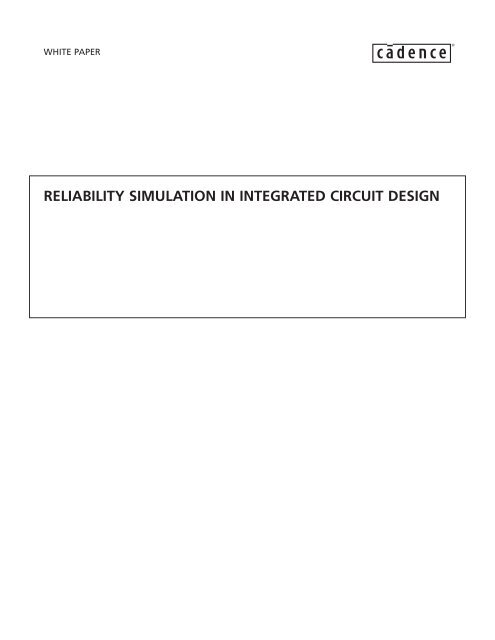 Reliability Simulation in Integrated Circuit Design