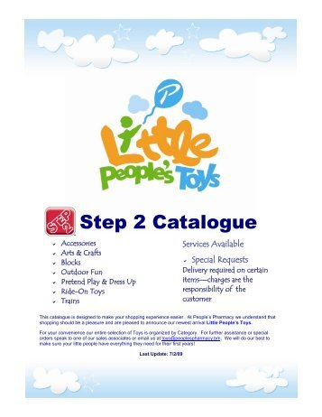 Step 2 Catalogue - Little People's Toys