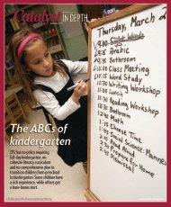 The ABCs of kindergarten - catalyst-chicago.org
