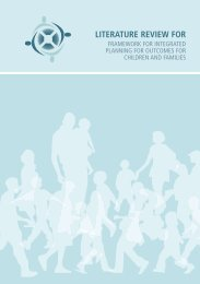 LITERATURE REVIEW FOR - UNESCO Child and Family Research ...