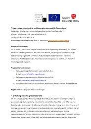 "Projekt ""Integrationsbericht und ... - Hochschule Regensburg"