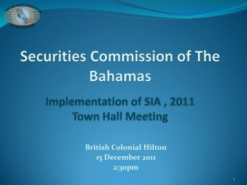 British Colonial Hilton 15 December 2011 2:30pm - Securities ...