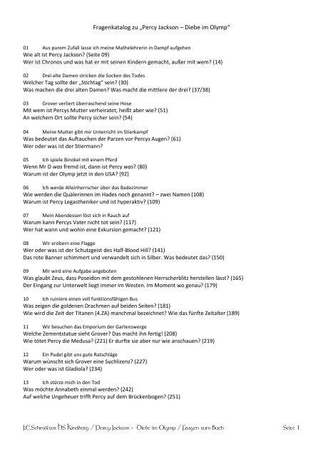 Percy Jackson Diebe Im Olymp Pdf