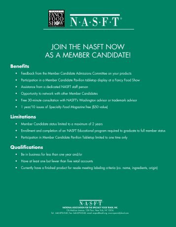 join the nasft now as a member candidate! - National Association for ...