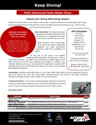 Download the brochure - Action Scuba