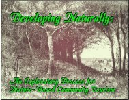 Developing Naturally - Process for Nature Based ... - Tourism Center