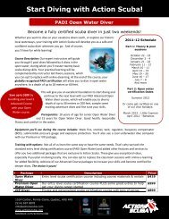 Start Diving with Action Scuba!
