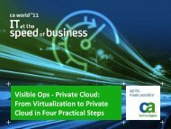 Visible Ops - Private Cloud - CA