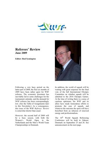 Referees' Review - World Squash Federation